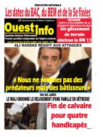 Jeudi 21 Janvier 2016 - Ouest-Info