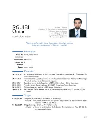 CV - Omar Rguibi