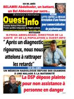 Vendredi 29 et Samedi 30 Janvier 2016 - Ouest-Info