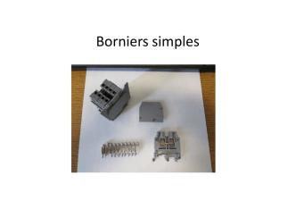 Borniers simples