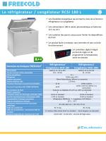 Le réfrigérateur / congélateur RCSI 180 L