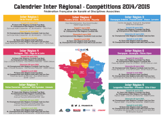 Calendrier Inter Régional - Compétitions 2014/2015