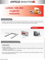 Fiche produit LOGIC 100-200 Logiciel Industrie BD - Arpege