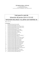 Liste de vente - Interencheres