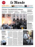 Le Monde dimanche 04 mai 2014