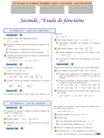 Seconde / Etude de fonctions