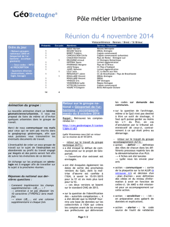 COMPTE RENDU - GéoBretagne