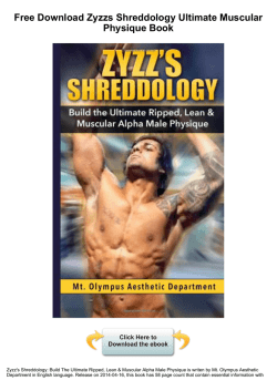 Zyzzs Shreddology Ultimate Muscular Physique