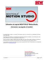 Utilisation du logiciel MOVITOOLS® MotionStudio
