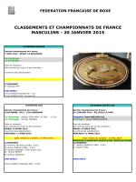 classements et championnats de france masculins