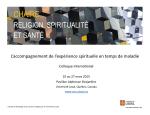 Chaire Religion, spiritualité et santé