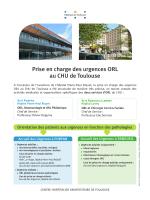 Prise en charge des urgences ORL au CHU de Toulouse