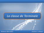 La classe de Terminale - Institut Emmanuel d`Alzon