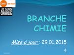 Organigramme de la branche Chimie - CFDT