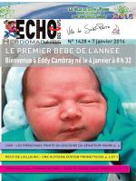 Écho des Caps N° 1428 du 7 janvier 2016 - Saint