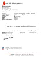 rapport initial contröle technique alpes controle