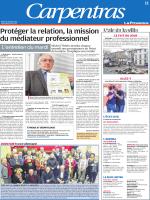 Article de la Provence du 19 janvier 2016