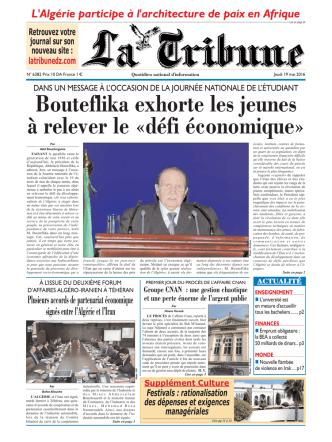 Bouteflika exhorte les jeunes à relever le «défi économique