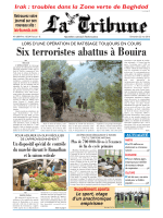 Six terroristes abattus à Bouira