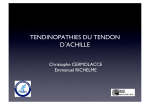 TENDINOPATHIES DU TENDON DACHILLE