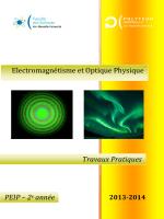 Electromagnétisme et Optique Physique Travaux Pratiques PEIP