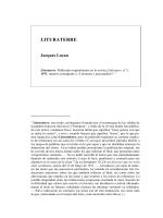 Clase 7, Anexo Lituraterre