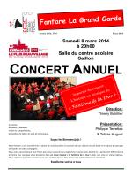 Programme concert 2014