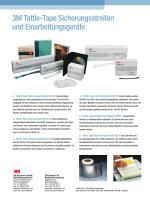 3MTattle-Tape Sicherungsstreifen und Einarbeitungsgeräte