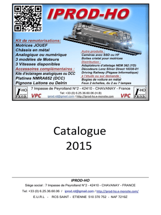 Catalogue 2015 - iprod-ho