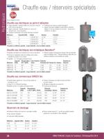 Chauffe-eau / réservoirs spécialisés