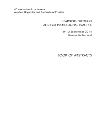 ALAPP Book of Abstracts