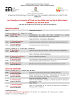 Programme - Université Mohamed Khider