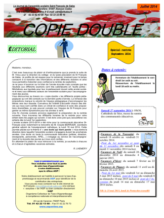 COPIE DOUBLE - Saint-François-de