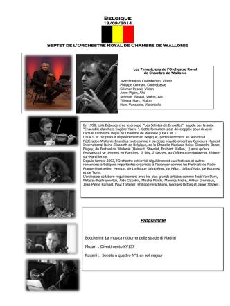 Belgique - Festival culturel international de musique symphonique