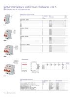 SD200 interrupteurs-sectionneurs modulaires ≤ 63 A Références et