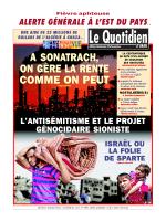 LE QUOTIDIEN D ORAN DU 31.07.2014