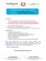 convocation kata / kumite - Féderation Royale Marocaine de Karaté