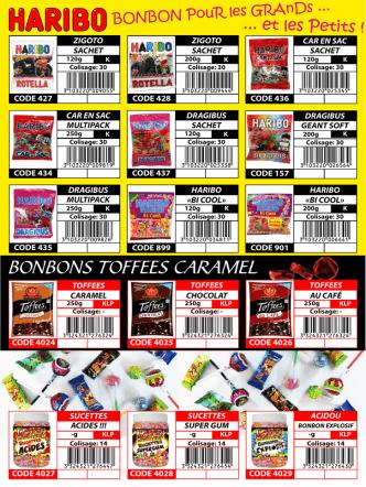 Bonbons Candies - CPK Centrale Produits Kasher