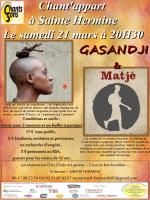 Chant`appart à Sainte Hermine Le samedi 21 mars à 20H30