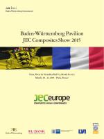 Baden-Württemberg Pavilion JEC Composites Show 2015