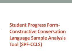 Student Progress Form- Constructive Conversation …