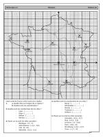 Cette carte de France a été munie d`un repère. 1. a. Quelle ville est l