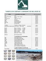 tarifs - OSAGRA Carrière de Belvèze 82