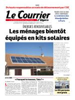 ÉNERGIES RENOUVELABLES - Le Courrier d`Algérie