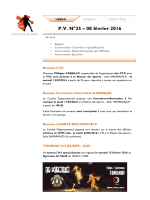 PV N°25 – 08 février 2016 - Comité de basket ball du Bas-Rhin