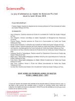 Liste des candidats admis en Master, jury d`admission