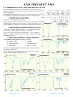 Spectroscopie IR et RMN - Prof-TC