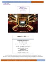 Fiche Technique Opéra Grand Avignon 2014