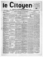 LE CITOYEN DU VENDREDI 04 AU VENDREDI 25 MARS 1921
