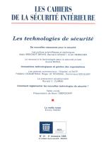 Les technologies de sécurité - Les Cahiers de la sécurité